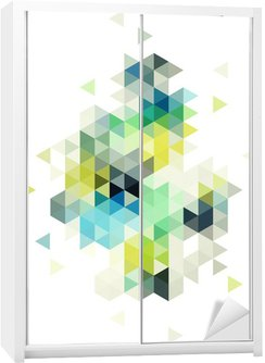 Adesivo de Guarda-roupas abstract low poly background, vector