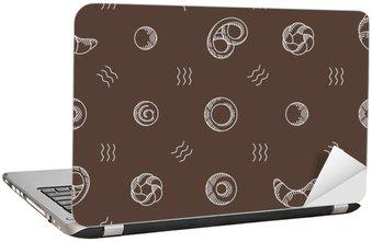 Adesivo de Notebook Produtos de panificação padrão sem emenda. ilustração vetorial