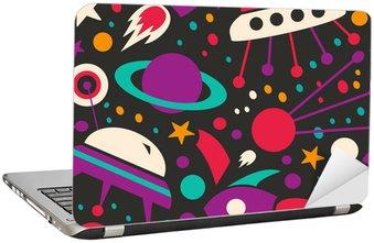 Adesivo de Notebook Seamless contrast cosmic pattern