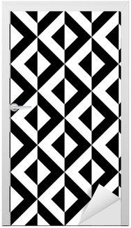 Adesivo de Porta Abstract geometric pattern