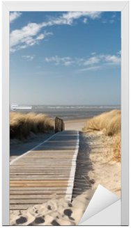 Adesivo de Porta Nordsee Strand auf Langeoog