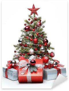 Pixerstick para Todas Superfícies Decorated Christmas tree and gifts