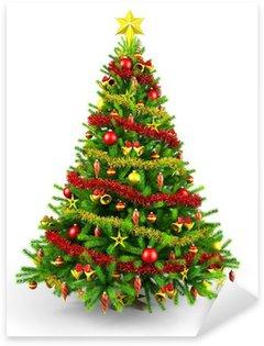 Pixerstick para Todas Superfícies Decorated Christmas tree