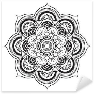 Pixerstick para Todas Superfícies Mandala. Round Ornament Pattern