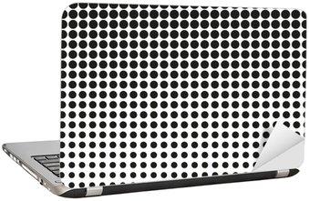 Adesivo para Notebook Intervalo mínimo abstrato. Os pontos pretos no fundo branco. Fundo de intervalo mínimo. Vetor dos pontos de retícula. intervalo mínimo no fundo branco. Fundo para o projeto