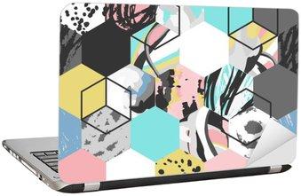 Adesivo para Notebook Vetor de fundo padrão geométrico