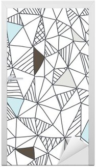 Adesivo para Porta Abstract seamless pattern rabisco