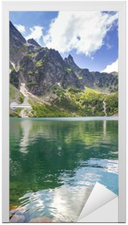 Adesivo para Porta Beautiful scenery of Tatra mountains and lake in Poland