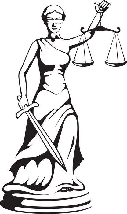 Pixerstick para Todas Superfícies Themis - uma deusa de justiça - Justiça