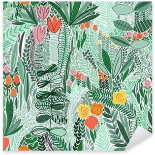 Pixerstick para Todas Superfícies Tropical padrão floral sem emenda