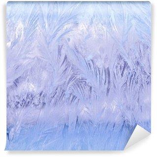 Afwasbaar Fotobehang Декоративный морозный узор на стекле