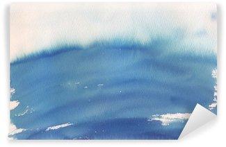 Afwasbaar Fotobehang Blauwe ombre aquarel achtergrond