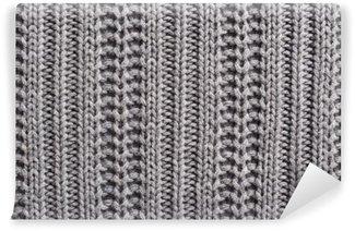 Afwasbaar Fotobehang Breiwol close-up textuur