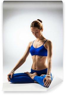 Afwasbaar Fotobehang De yoga vrouw