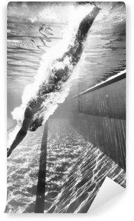 Afwasbaar Fotobehang Duiken in het zwembad
