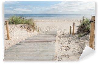 Afwasbaar Fotobehang Een paadje naar het strand