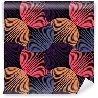 Afwasbaar Fotobehang Sierlijke Geometrische Bloemblaadjes Grid, Abstract Vector Naadloos Patroon