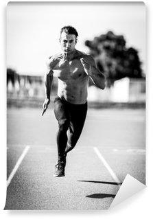 Afwasbaar Fotobehang Sprinter man