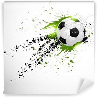 Afwasbaar Fotobehang Vliegende voetbal