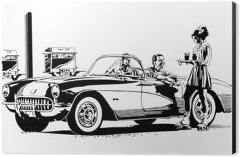 Drive In Burgers Aluminium Print (Dibond)
