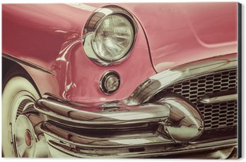 Aluminium Print (Dibond) Retro styled image of a front of a classic car