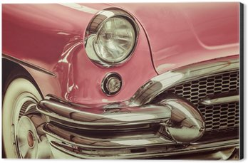 Retro styled image of a front of a classic car Aluminium Print (Dibond)