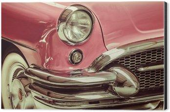 Retro styled image of a front of a classic car Aluminium Print (Dibond)