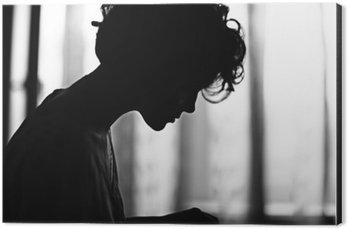 Aluminium Print (Dibond) silhouette girl portrait