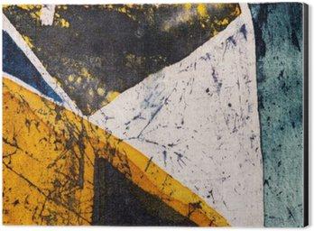 Aluminiumtavla Geometri, varm batik, bakgrund textur, handgjorda på siden, abstrakt surrealismkonst