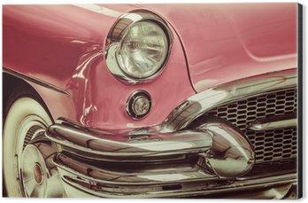 Aluminiumtavla Retro stil bild av en framför en klassisk bil