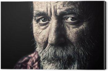 Alüminyum Baskı (Dibond) Çok eski evsiz üst adam portre