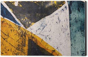 Alüminyum Baskı (Dibond) Geometri, sıcak batik, arka plan doku, ipek üzerine el yapımı, soyut gerçeküstücülük sanat