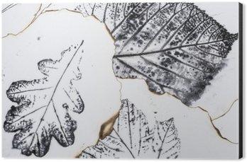 Alüminyum Baskı (Dibond) Sanatsal resim - yaprakların izleri - Grafik - monotype