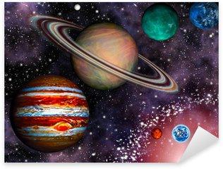 Pixerstick Aufkleber 3D Solar System Wallpaper