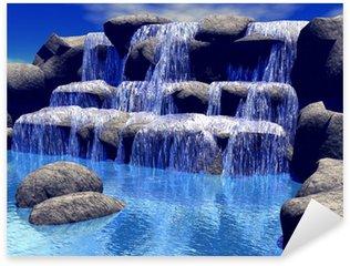 Pixerstick Aufkleber 3d Wasserfall