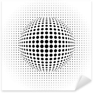 Pixerstick Aufkleber Abstrakten Hintergrund - optische Täuschung