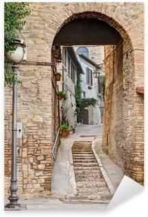 Pixerstick Aufkleber Alte Gasse in Bevagna, Italien