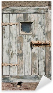 Pixerstick Aufkleber Alte hölzerne Tür