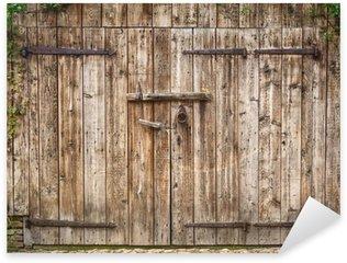 Pixerstick Aufkleber Alte verwitterte Scheune Tür