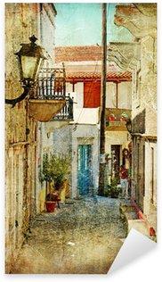 Pixerstick Aufkleber Alten griechischen Straßen-künstlerisches Bild