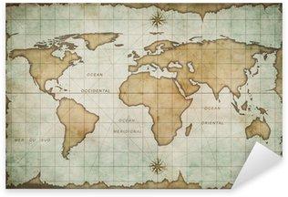 Pixerstick Aufkleber Alter alte Weltkarte