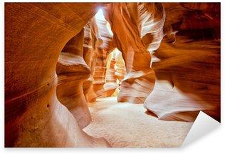 Pixerstick Aufkleber Antelope Canyon Ansicht mit Lichtstrahlen