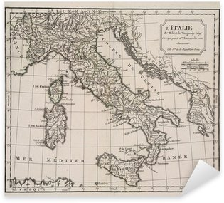 Pixerstick Aufkleber Antike Karte von Italien