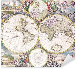 Pixerstick Aufkleber Antike Karte