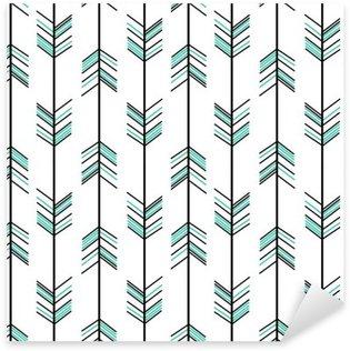 Pixerstick Aufkleber Arrow nahtlose Vektor-Muster Hintergrund Hippie-Illustration