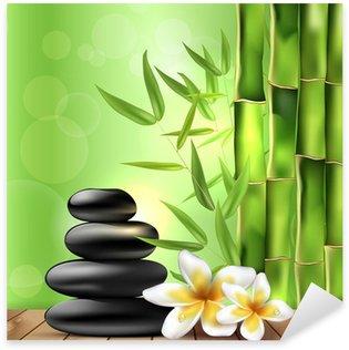 Wallpaper bambus und steine  Wallpaper Bambus Und Steine. Excellent Glasbild Orchidee Mit ...