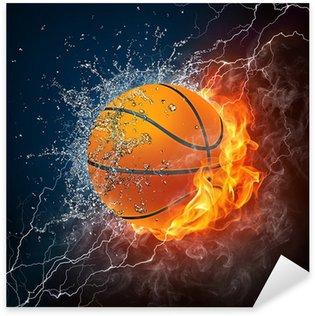 Pixerstick Aufkleber Basketball ball
