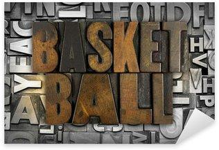 Pixerstick Aufkleber Basketball
