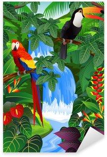 Pixerstick Aufkleber Beauiful tropischen Hintergrund
