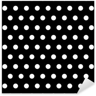 Pixerstick Aufkleber Black and White Dots Hintergrund